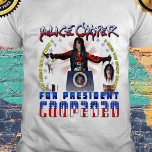 alice cooper for president 2020 chicken & head M official tee